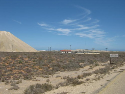 a mining area