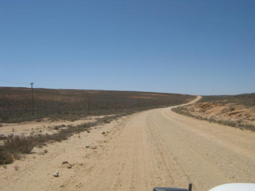 A very corrugated dirt road between Kleinzee @ Port Nolloth