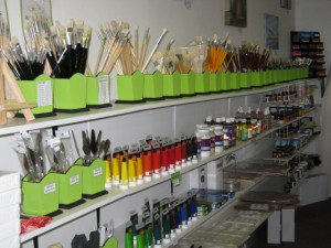 "A variety  of Art Supplies for sale at ""Simply Art"" studio"