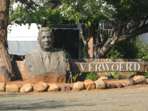 statue at town entrance
