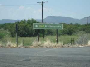 directions to Koffiefontein on the OFS